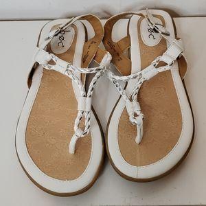 B.O.C T-Strap white/silver Sandal